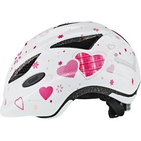 ABUS Anuky Kask rowerowy Dzieci, white heart